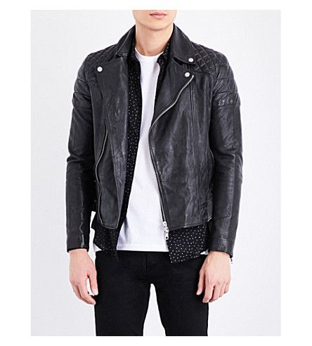 leather biker jacket mens topman jackets