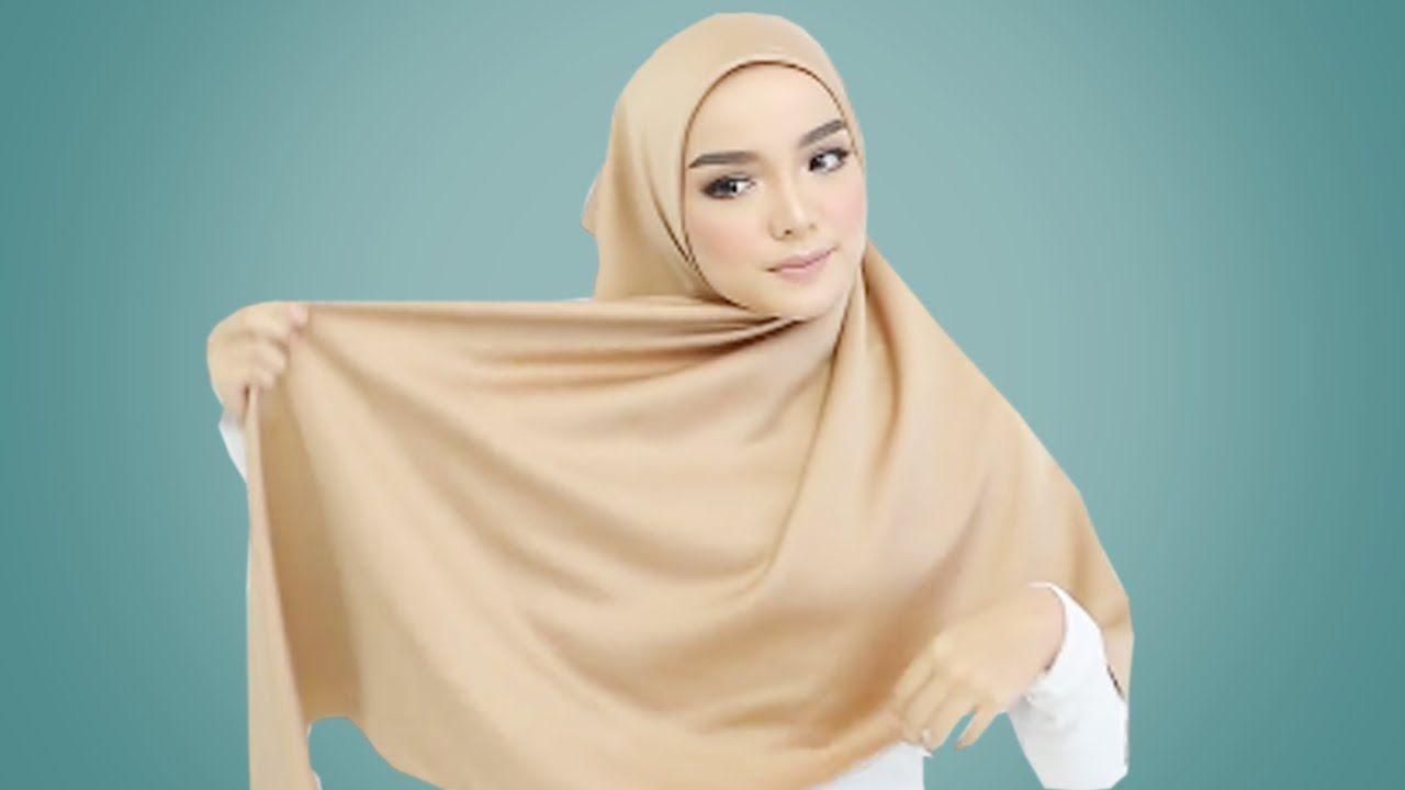17 Tutorial Hijab Segi Empat Simple Cantik Dan Kekinian 2018 Pakaian Wanita Jilbab Cantik Wanita
