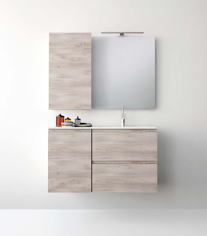 UNIBANO-Pack206-Baño Mueble de baño con encimera de 100cm y mueble ...