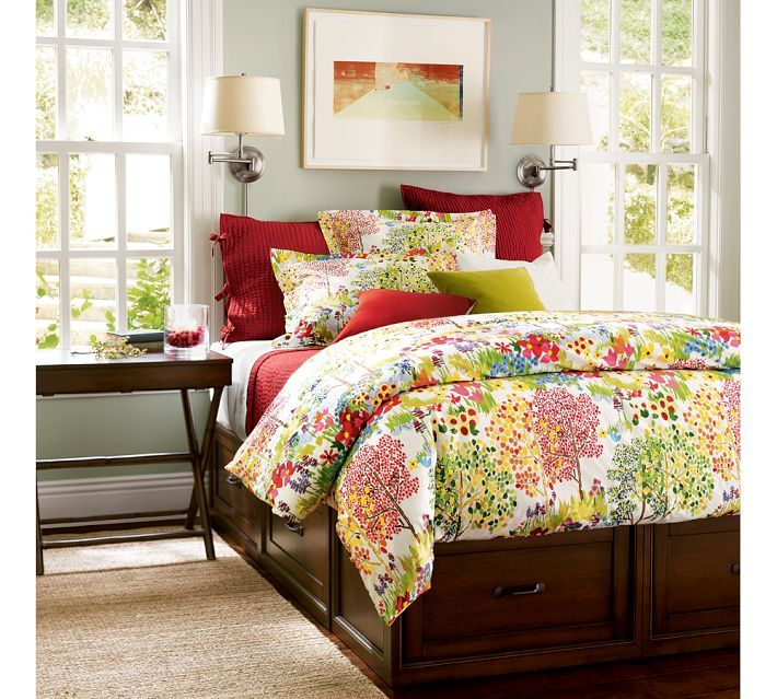 Pottery Barn Woodland Floral Organic Duvet Covers Home Decor