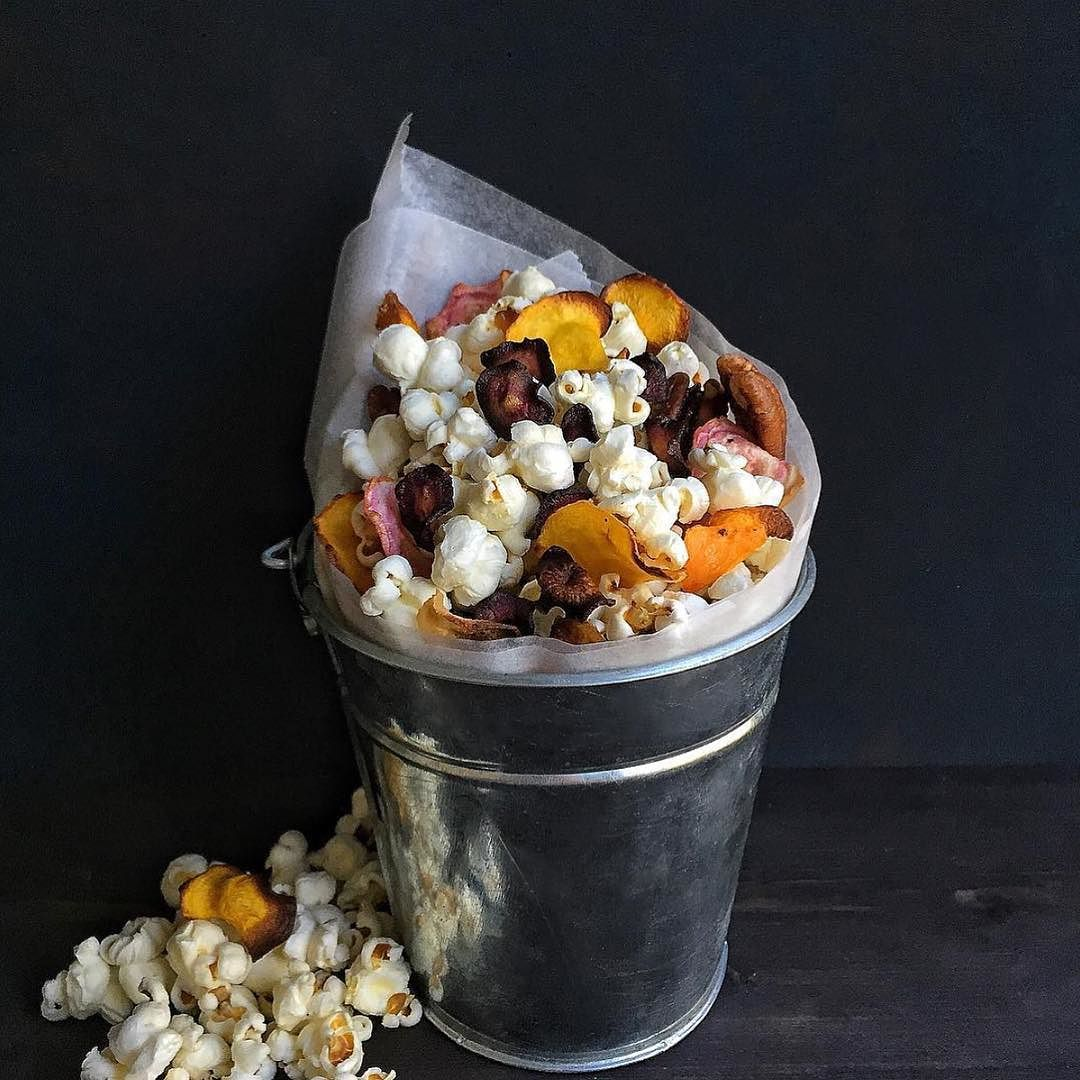 Repost by @cookniche. Photo by @cravingsinamsterdam Snack attack! Popcorn with…