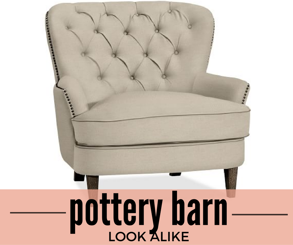 Want The Pottery Barn Cardiff Tufted Chair For A Fraction Of Price Check Out This Look Alike And Save Cash