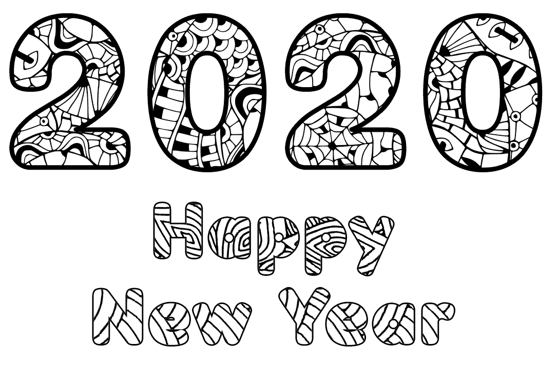 22 Free New Year 2020 Coloring Pages Printable New Year Coloring Pages Coloring Pages Love Coloring Pages