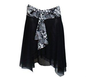 dfbf1b85369 Wiki Adelaide Mesh skirt- Strandkjole sort & Hvid | Beach wear ...
