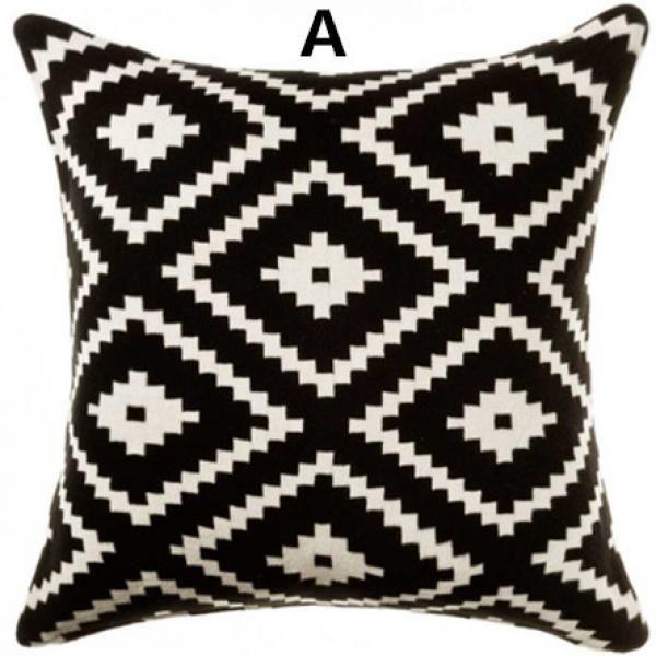 Large Black Cushions
