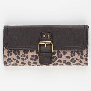 T-SHIRT & JEANS #Cheetah Print #Wallet