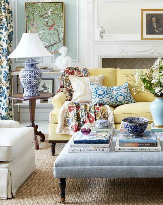 Will An All Blue And White Home Look Weird Classic Living Room Living Decor Living Room Designs