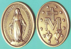 Miraculous Medal Wikipedia The Free Encyclopedia Miraculous Medal Blessed Virgin Mary Blessed Mother