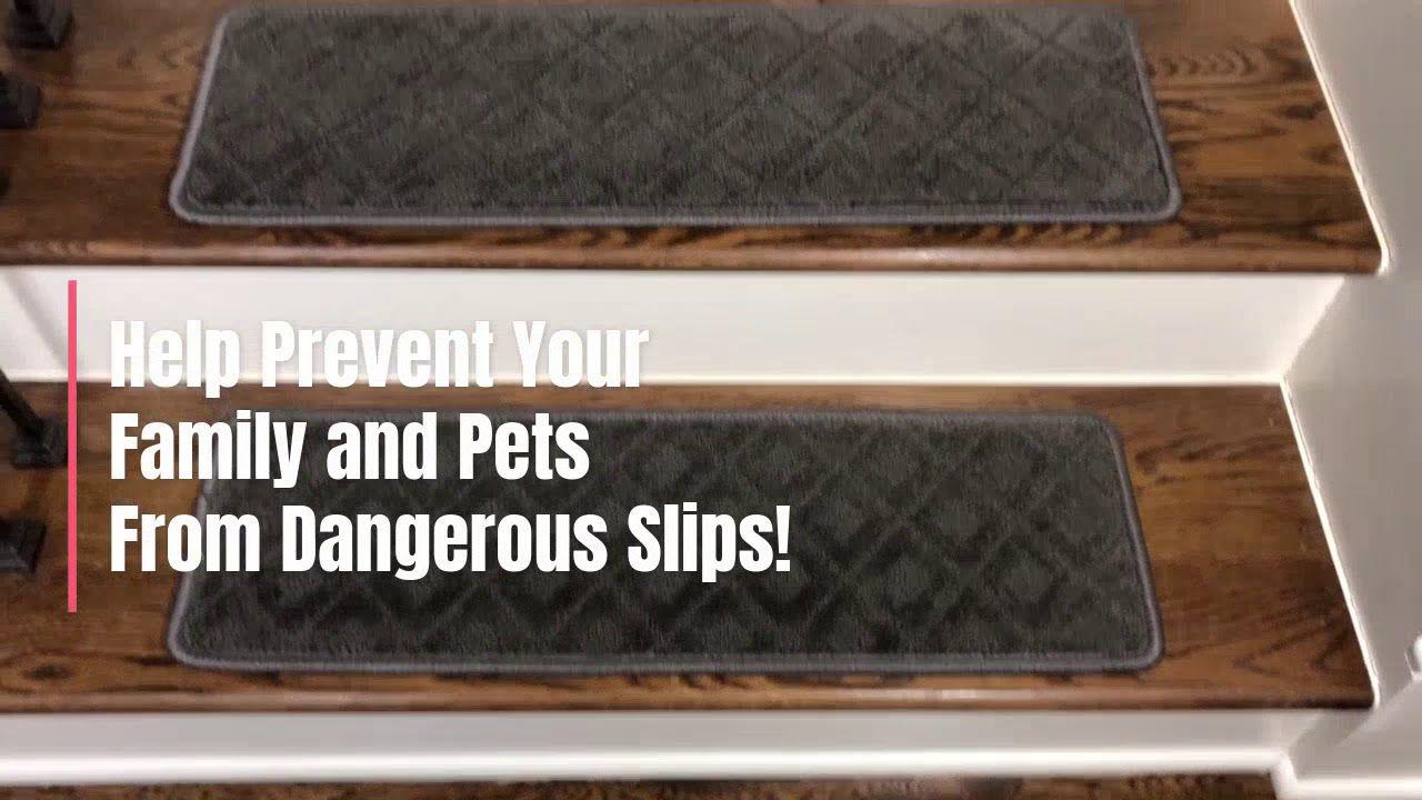 Best Dean Pet Friendly Smoked Pearl Dark Gray Carpet Stair 400 x 300