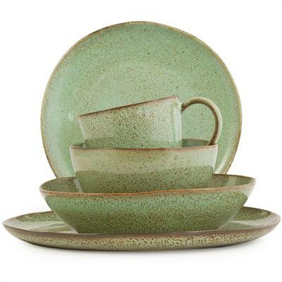 Farmstead Stoneware Collection Mint 491568322 Stoneware Dinnerware Sets Stoneware Dinnerware Sets Stoneware Dinnerware Dinnerware Sets
