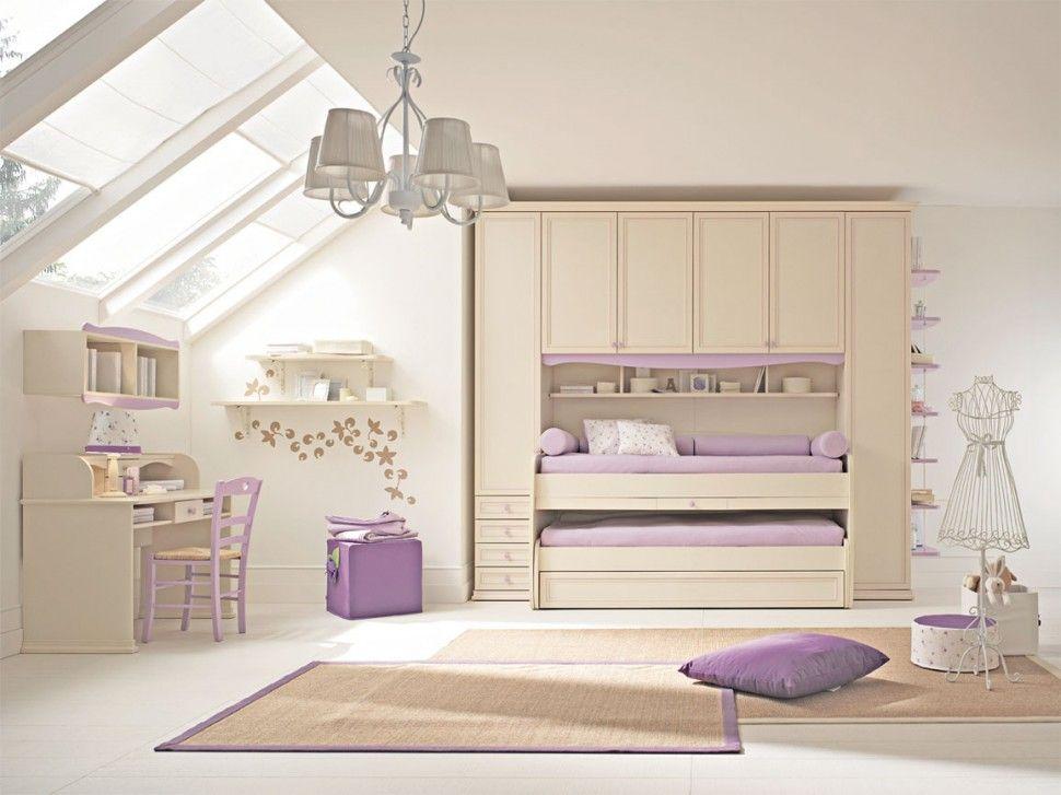 Camerette Arcadia Armadio Per Bambini Finitura Magnolia E