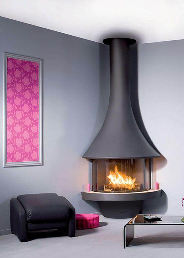Risultati immagini per camino angolare moderno home for Soggiorno moderno ad angolo