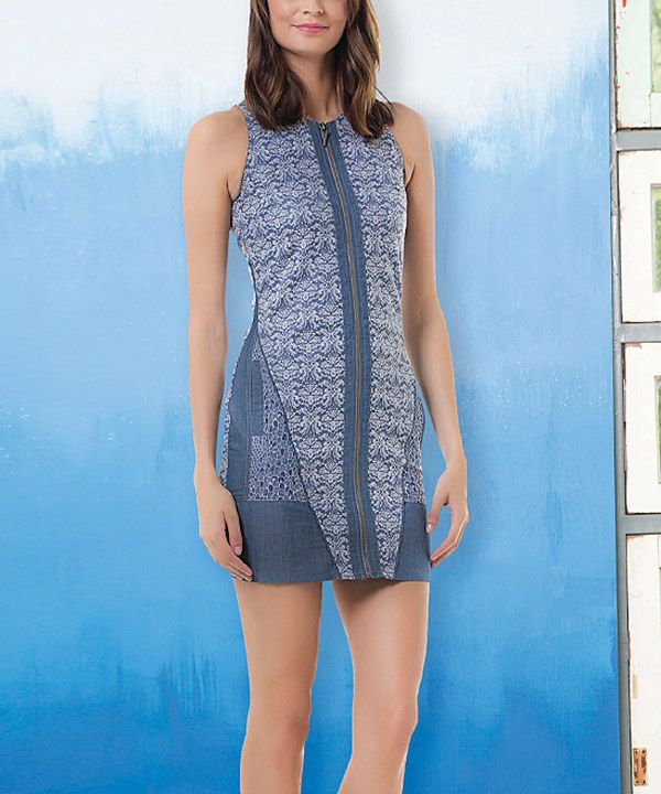 Look at this Angels Never Die Blue Tapestry Sheath Dress on #zulily today!