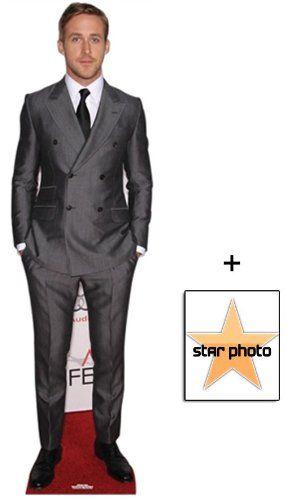 Fan Pack   Ryan Gosling Lifesize Cardboard Cutout / Standee   Includes 8X10  (25X20Cm)