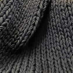 Photo of Baumwolldecke grob gestrickt vegan x-groß 150x203cm, dunkelgrau Desiary.de