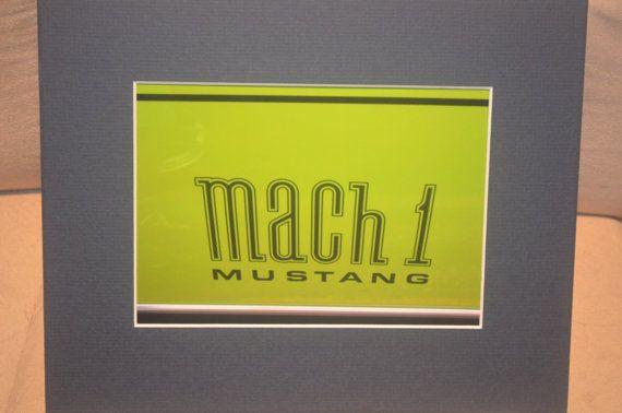 Mach 1 by Cruisincars on Etsy, $8.00