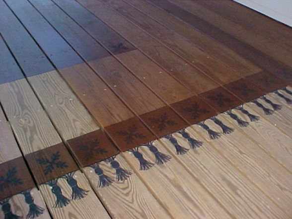 Jen Hand Painted Stained The Rug On This Deck My Work In