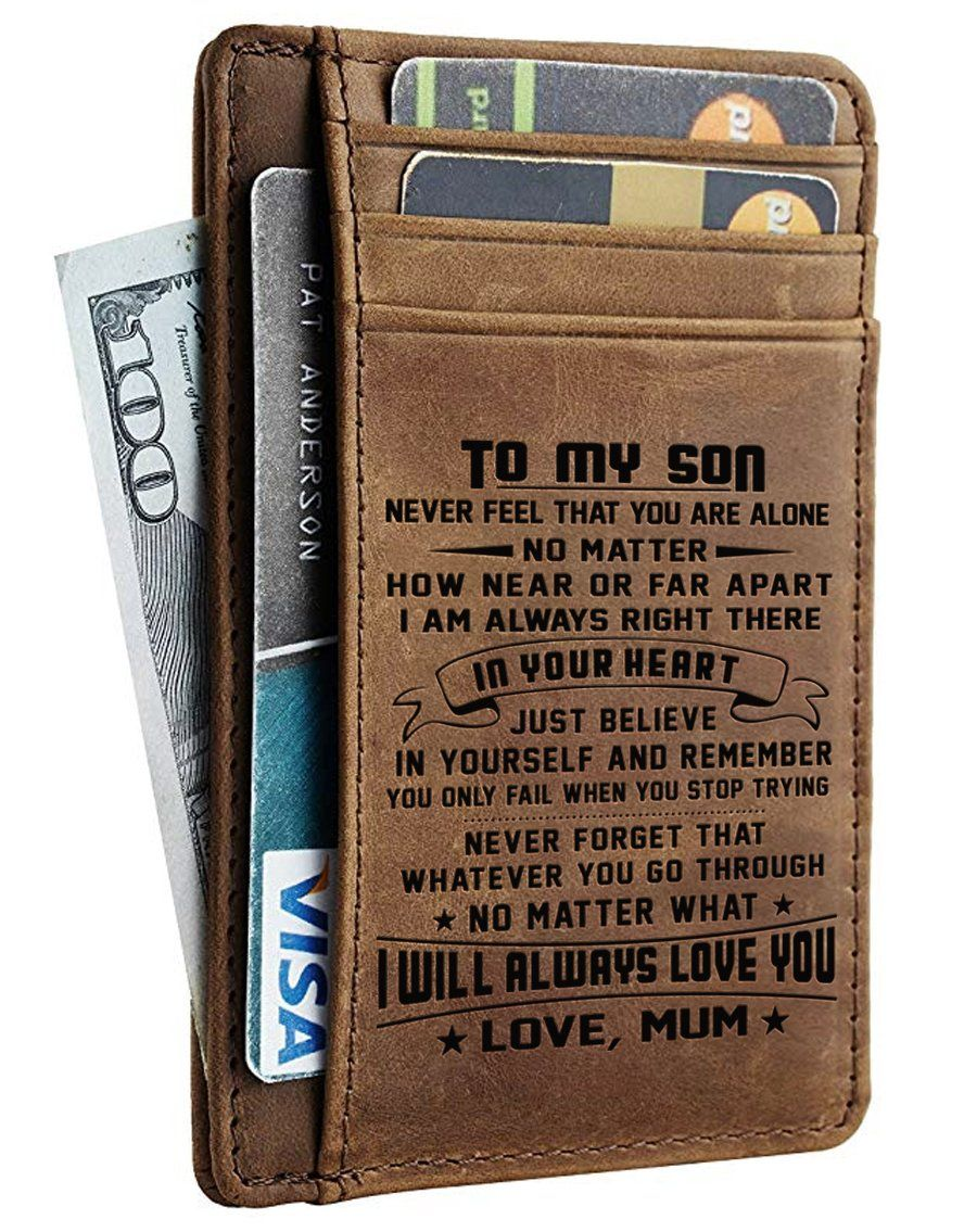 Card wallet son mum will always love you son gift
