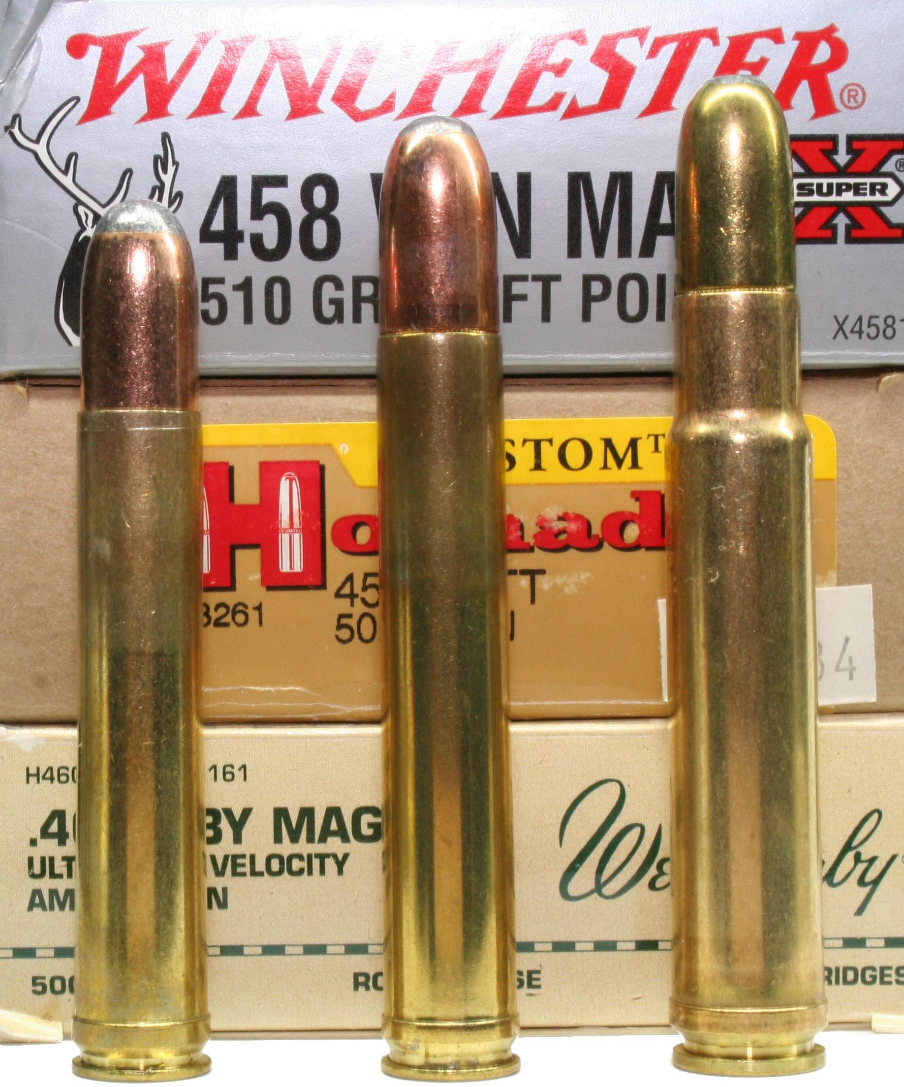 458 Winchester Magnum, .458 Lo...
