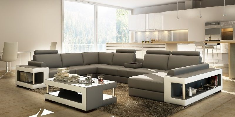 Bonded Leather 7 Seater Sectional Sofa Set