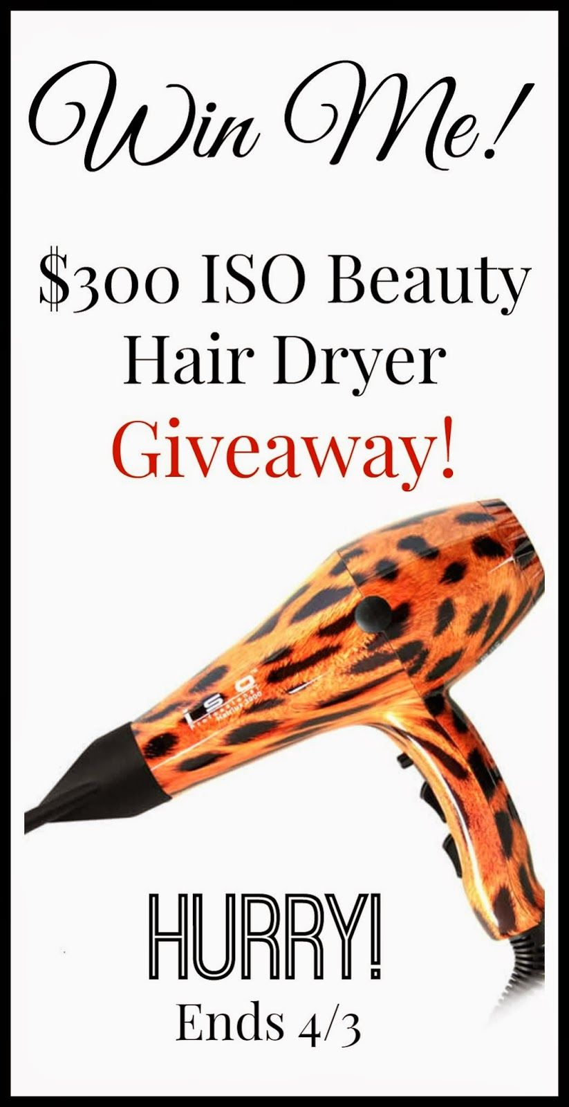ISO Beauty HOT **HAIR DRYER*** Giveaway! FAB 50 OFF