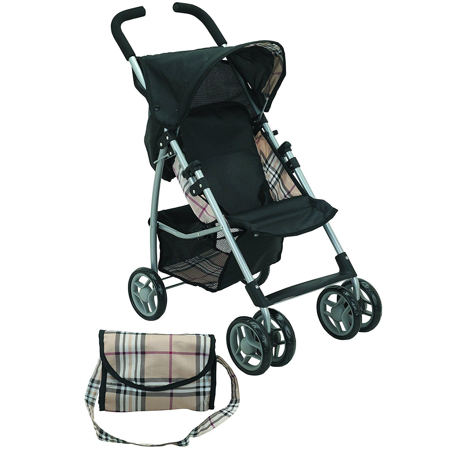Mommy & Me Doll Stroller Swiveling Wheels with