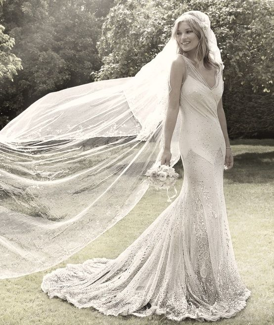 Image result for kate moss wedding dress