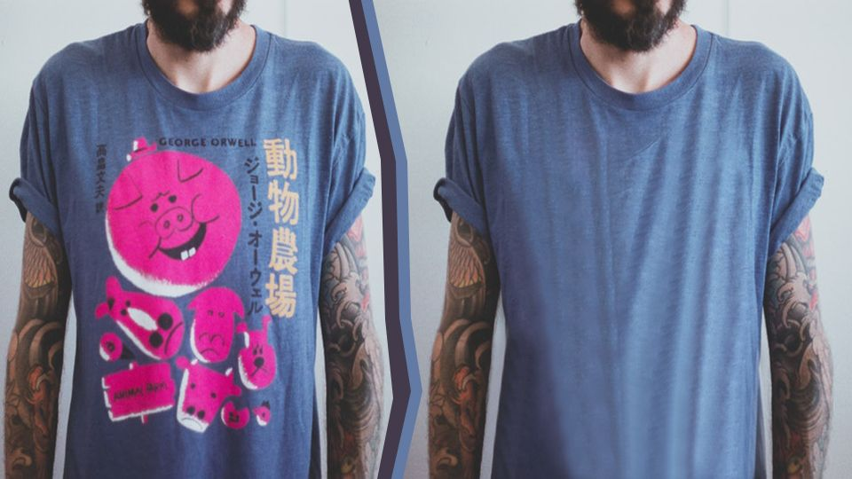 Photoshop Tuto : How to Remove Logos from Clothing in