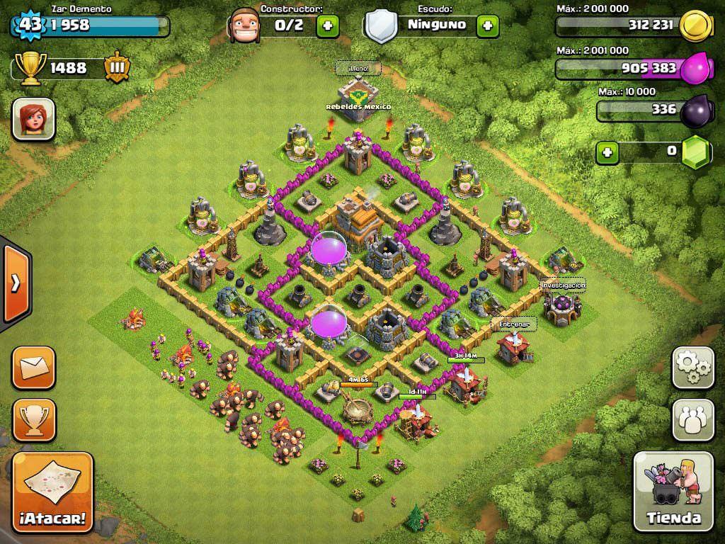 Base Design Town Hall Level 7 3 Defensive War