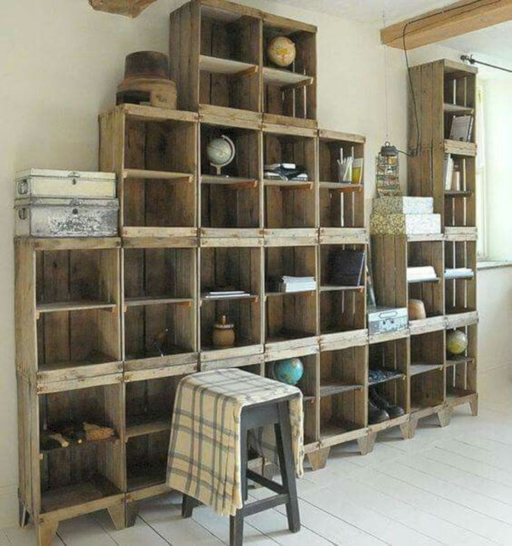 54 diy wood crate shelves projects to calm the clutter on inventive ideas to utilize reclaimed wood pallet projects all you must to know id=27549