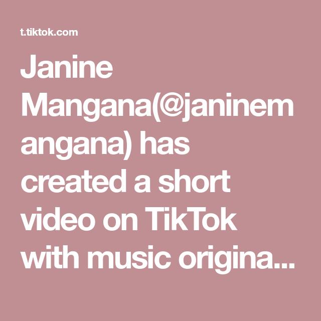 Janine Mangana Janinemangana Has Created A Short Video On Tiktok With Music Original Sound Janine Mangana Perfect For Lunch Or Dinner Di 2021 Kambing Hitam Kambing