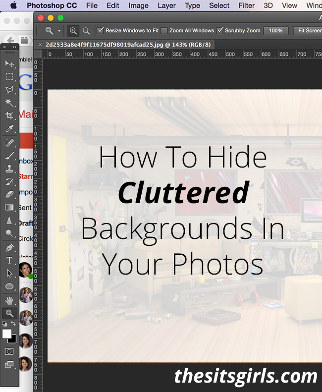 Photography Tips | Learn how to hide clutter in the background of your photos - includes an easy to follow video tutorial for photo editing.