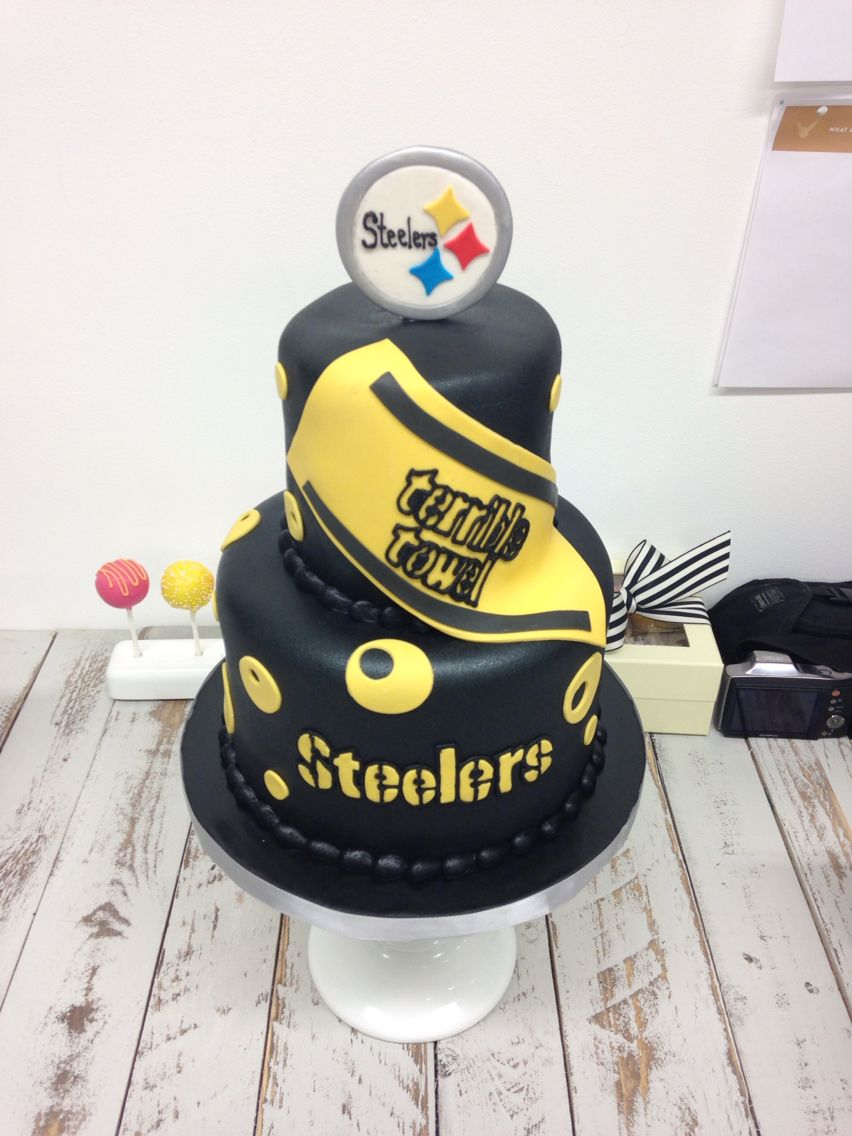 Wondrous Pittsburgh Steelers Cake Pittsburgh Steelers Pitsburgh Steelers Funny Birthday Cards Online Alyptdamsfinfo