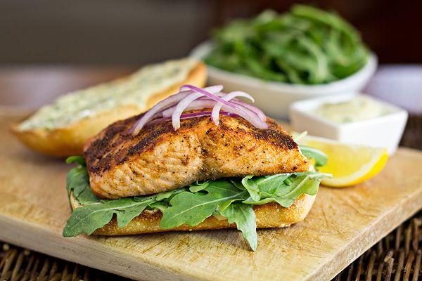 Cajun Salmon Sandwiches