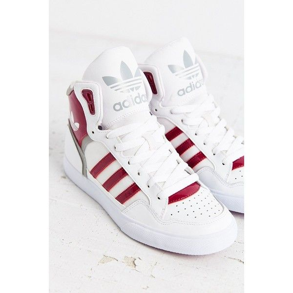 reputable site 23088 ba8b7 adidas Originals Extaball Sneaker ( 75) ❤ liked on Polyvore featuring shoes,  sneakers, violet, stripe shoes, polish shoes, hi tops, cushioned shoes and  ...