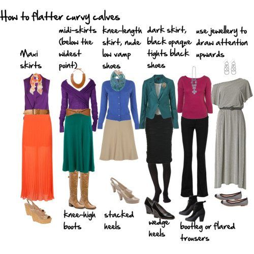 How To Flatter Wide Calves Inside Out Style Fashion Big Calves