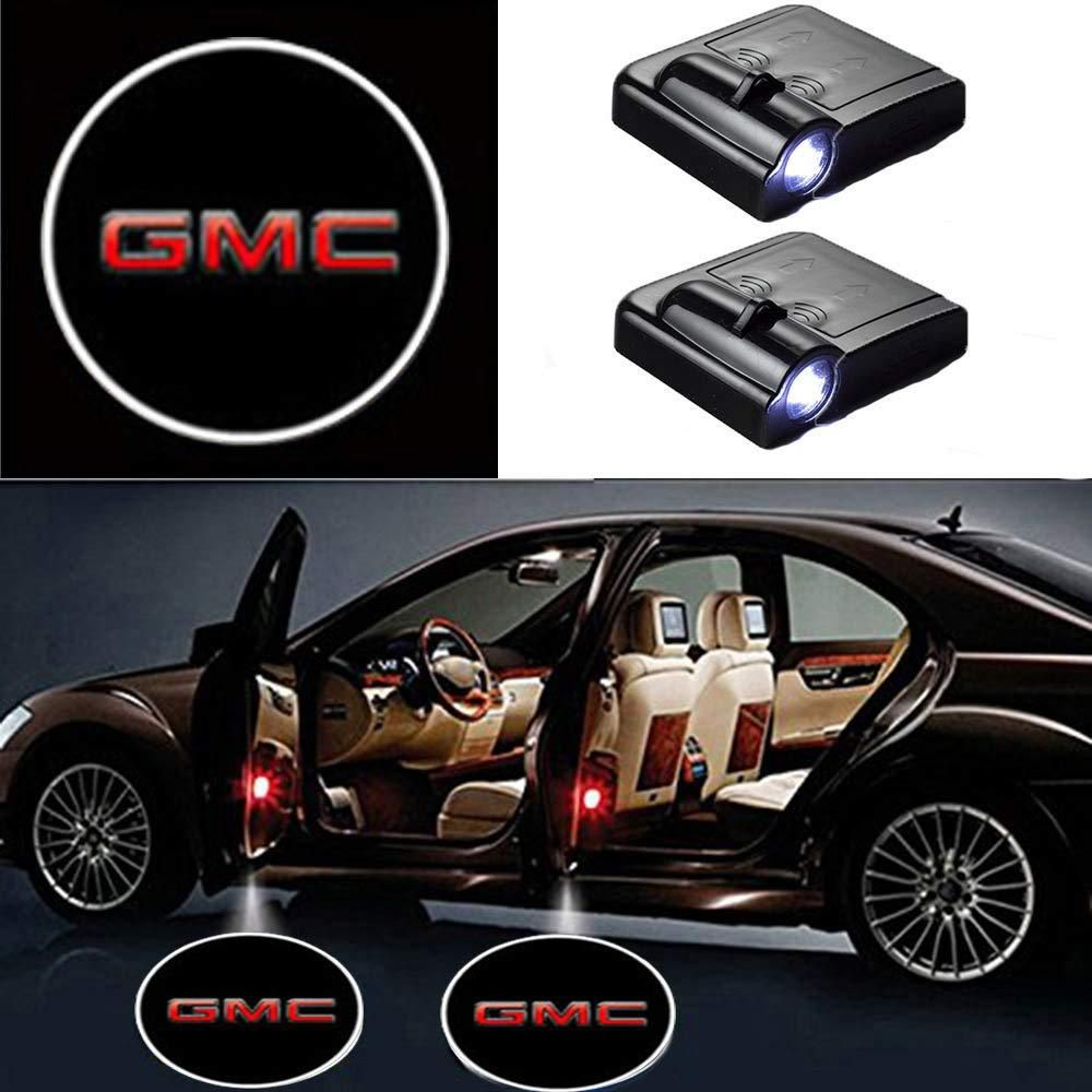 2 Pcs Led Car Door Logo Ghost Shadow Light For Gmc Car Car Door