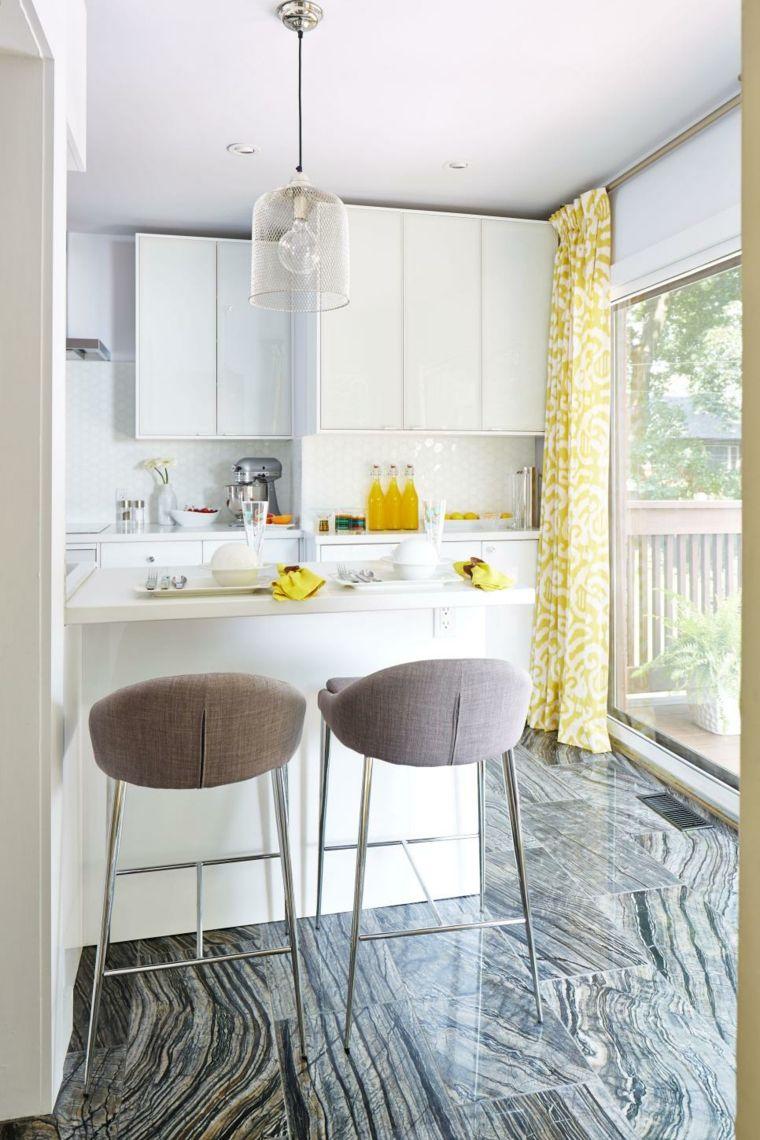 Cocinas blancas ideas prácticas para diferentes estilos | Cortinas ...