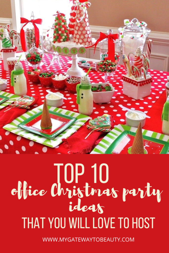 10 Office Christmas Parties You Will Want To Throw My Gateway To Beauty Blog Christmas Party Themes Office Christmas Office Christmas Party