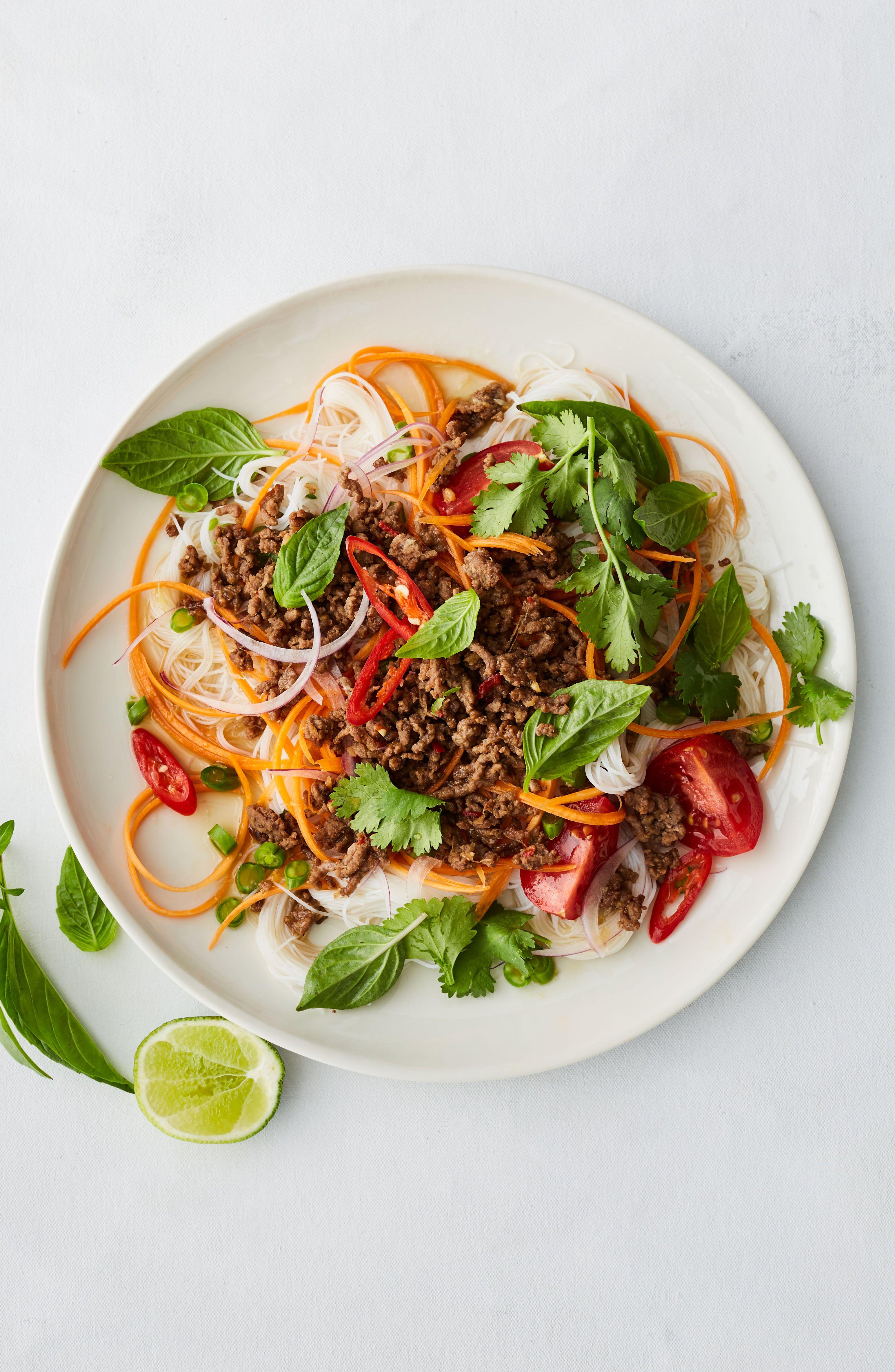 Healthy beef mince Thai noodle salad | Recipe | Healthy ...