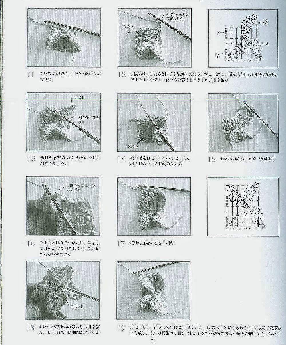 Punto Mariposa en Crochet Tutorial - Patrones Crochet | Arte que ...