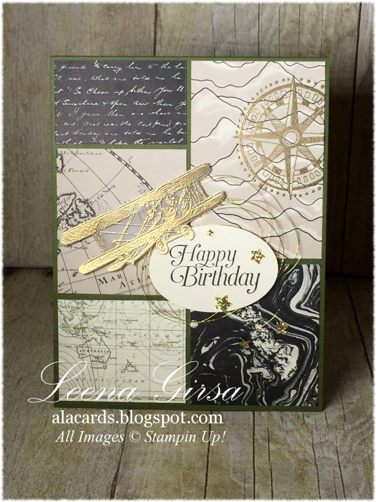 A La Cards Manly Birthday Su Masculine Birthday Card Featuring