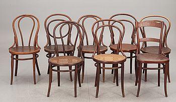418205. STOLAR, 8 st, bl a 4 Thonet, 2 Kohn. 1900-tal. – Bukowskis Market