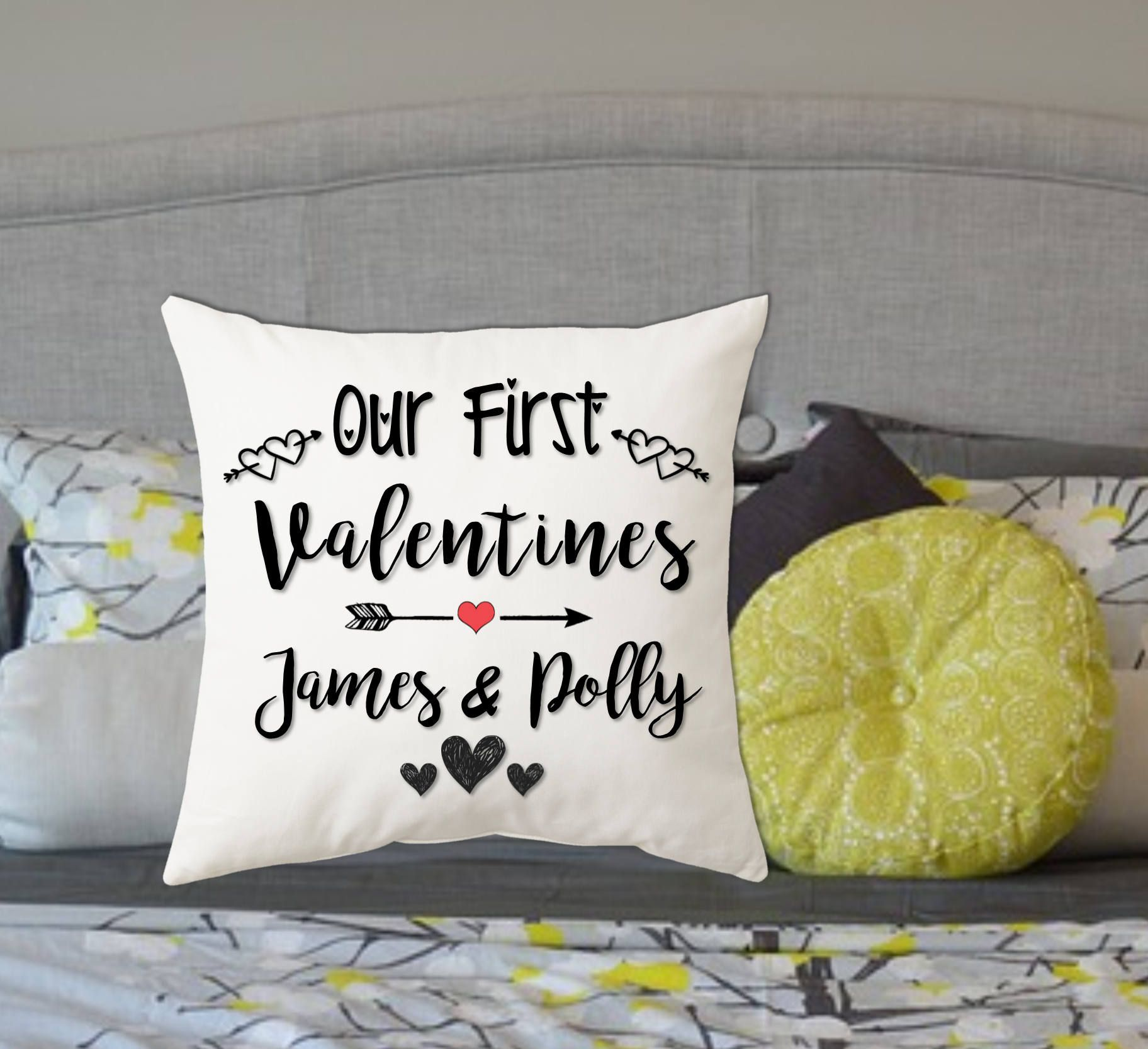 Personalised valentines cushion pillow gift perfect present husband