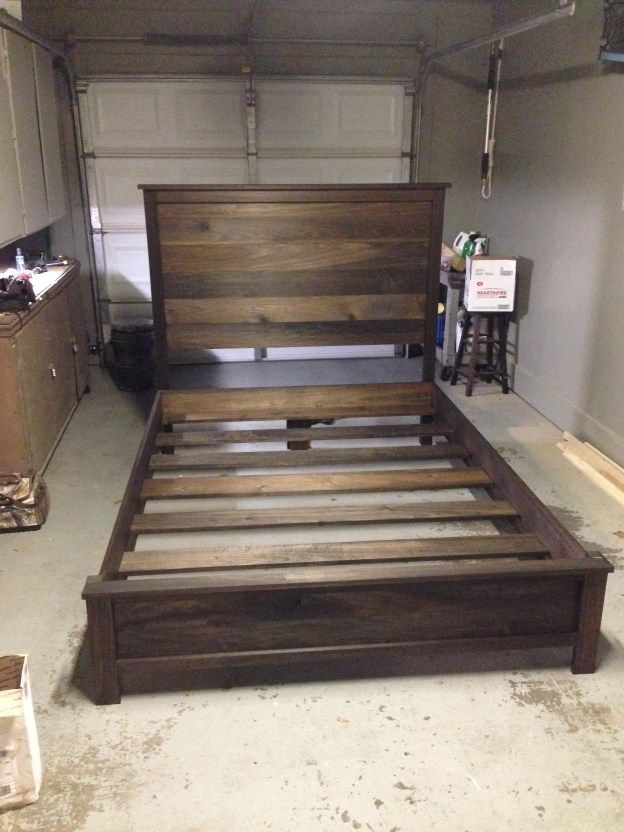 Headboard And Frame Step By Step Guide More Diy Bed Frame Diy