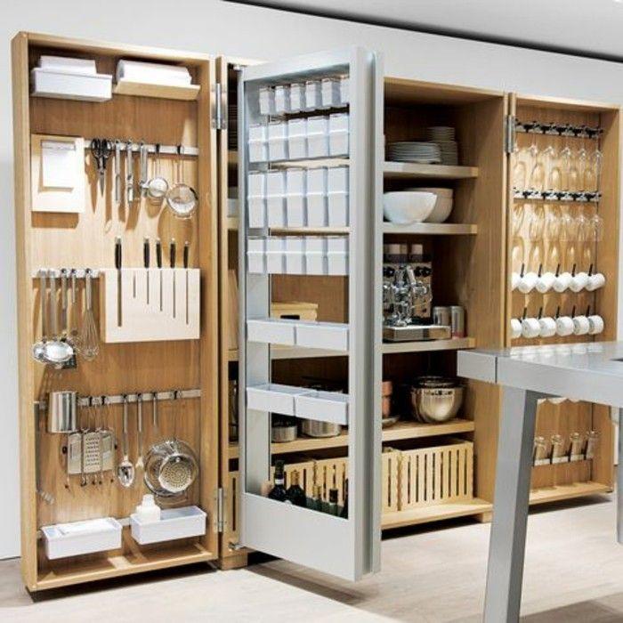 Le rangement mural, comment organiser bien la cuisine? | Cuisines ...