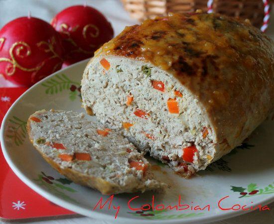 Galantina de Pavo -Turkey's Roll. Colombia, cocina
