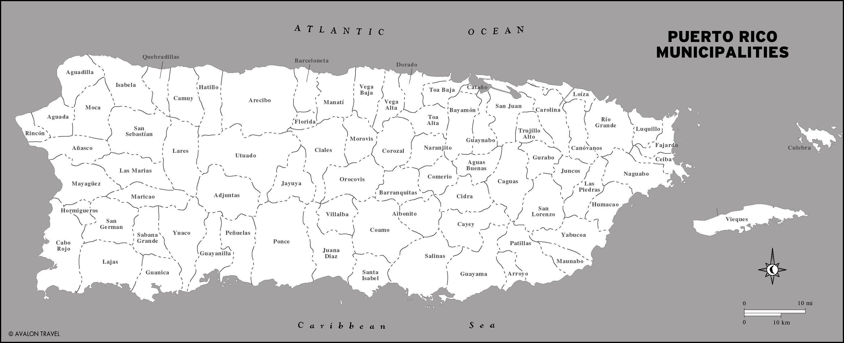 Maps Of Puerto Rico Travel Maps San Juan And East Coast - Puerto rico cities towns map