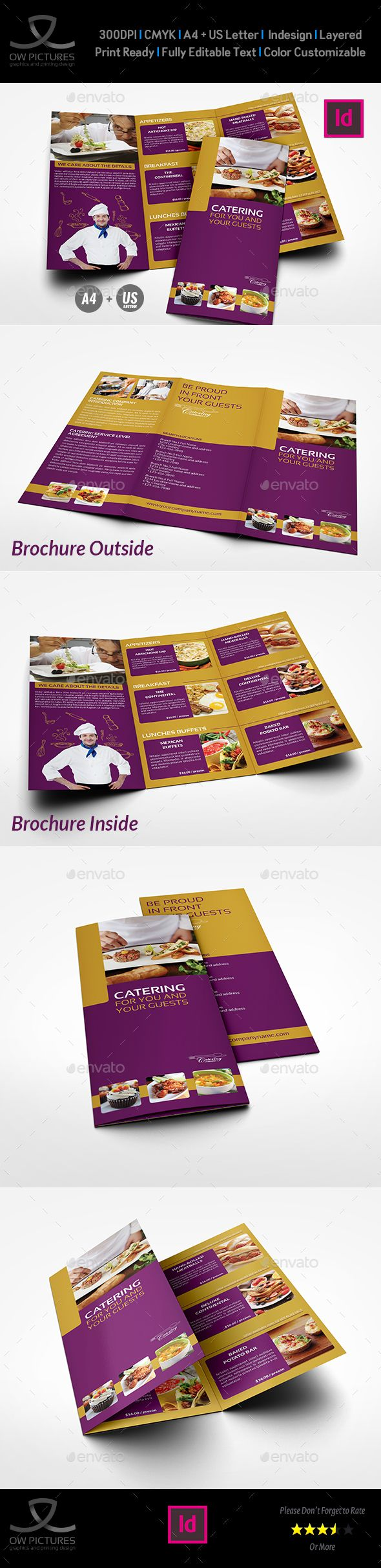 Catering TriFold Brochure Template Pinterest Brochure Template - Catering brochure templates