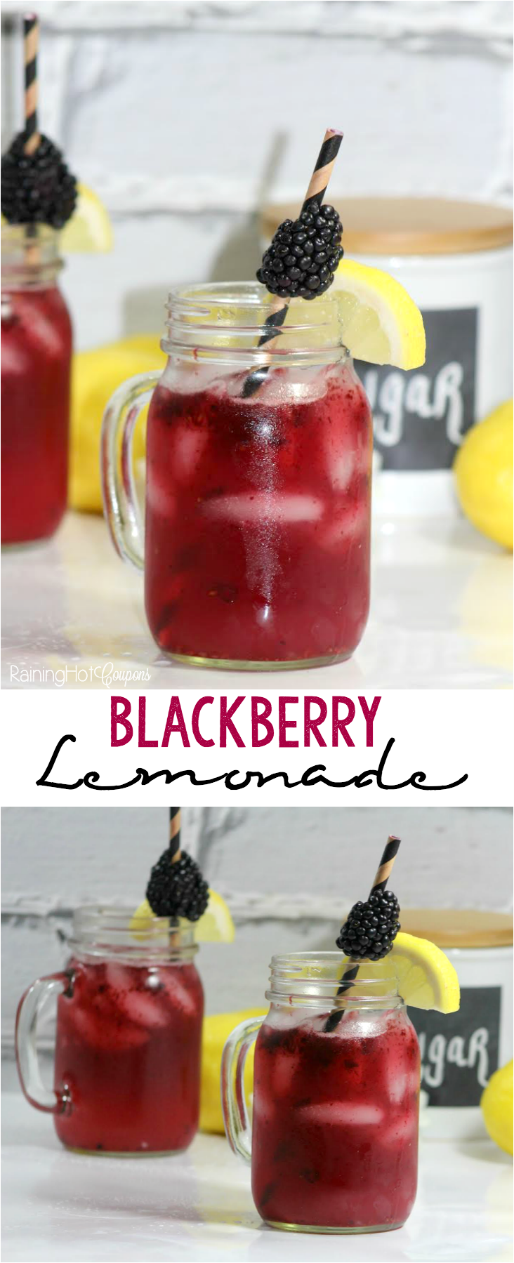 Blackberry Lemonade - This is a super refreshing and tasty summer drink recipe.